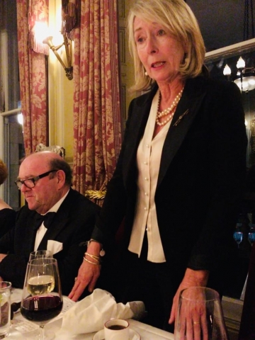 paul mcguinness lucy o'sullivan trinity college dublin tcd association london joint dinner 2019